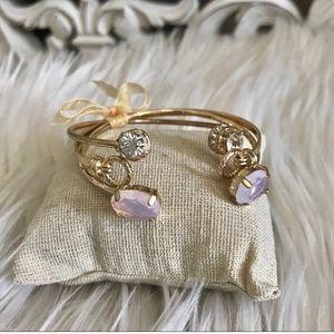 Gold Cuff Bracelet Set